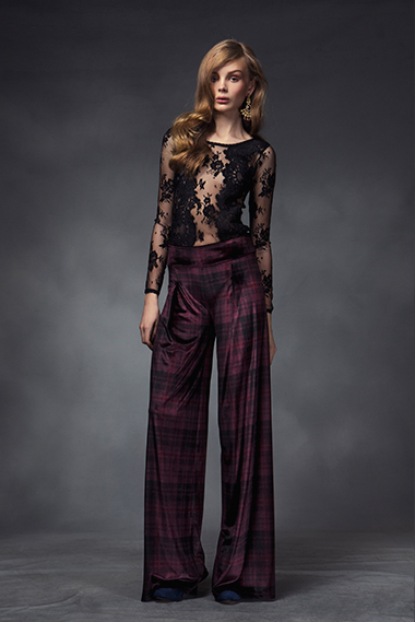 Covet top, briar trousers