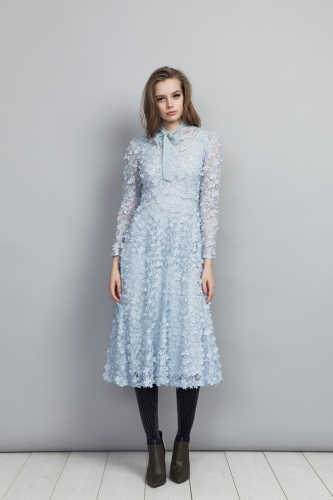 Camille Dress Blue