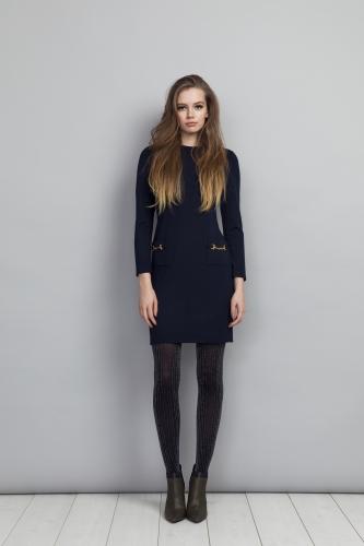 Shelley Dress Navy