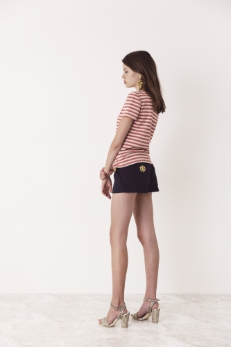 Bettie Top Red Cali Shorts