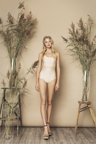 Bella Swimsuit Beige