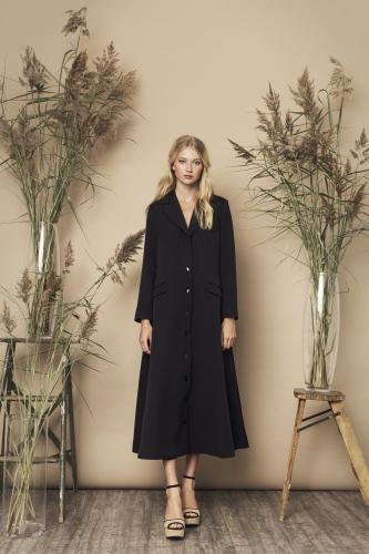 Catherine Coat Black