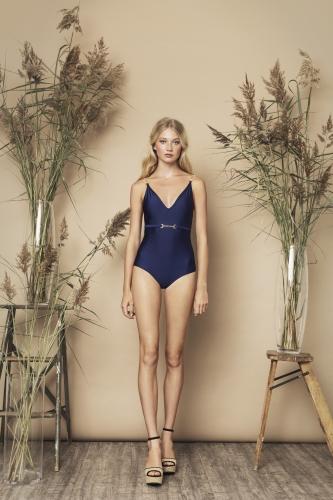 Celine Swimsuit Navy