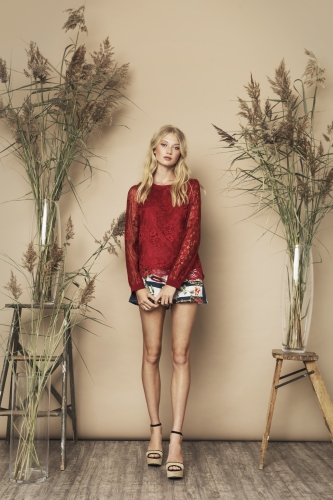 Janice Top Red Olive Shorts