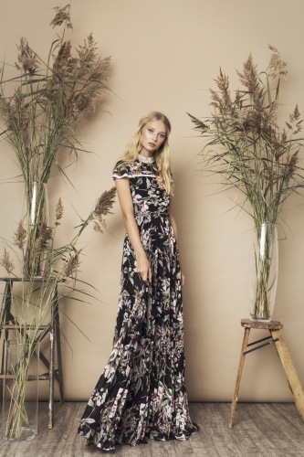 Palace Dress Black Floral