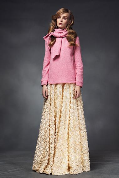 Wrap sweater, rosamund skirt